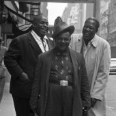 Wille Dixon, Big Joe Williams and Memphis Slim in New York City, 1961