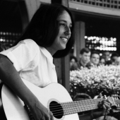 Joan Baez at the Newport Folk Festival in July 1963