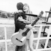 Leonard Cohen and Joni Mitchell, Newport, Rhode Island, July 1967