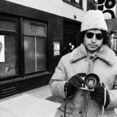 Bob Dylan, with a camera, New York City, December 1971