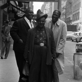 Willie Dixon, Big Joe Williams, and Memphis Slim, New York City, 1961