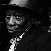 Portrait of Mississippi John Hurt, Newport, Rhode Island, July 1964skip