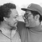 Portrait of Charles Mingus and Dizzy Gillespie, Newport, Rhode Island, July 1971