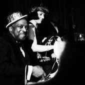 Portrait of Count Basie and Keeley Smith, New Years Eve, New York City, 1963