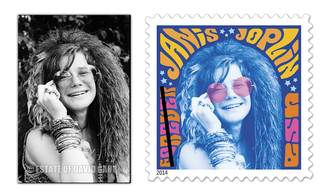 f3236989da9 Janis Joplin Image by David Gahr Featured in USPS USA Forever Stamp Series