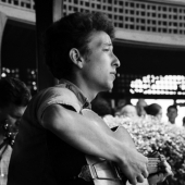 Bob Dylan at the Newport Folk Festival in July 1963