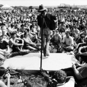 Arlo Guthrie performs at the Newport Folk Festival in July 1967