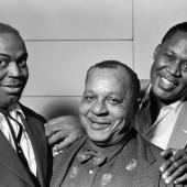Willie Dixon, Big Joe Williams, and Memphis Slim, New York City, 1961