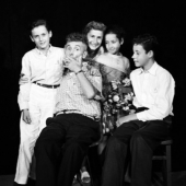 A Portrait of the Guthrie Family in New York City, 1960: Joady, Woody Guthrie, Marjorie, Nora, and Arlo