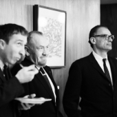 John Updike, John Steinbeck, and Arthur Miller, New York City, November 1966